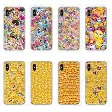 chat expression Bag Smiley Faces Emoticon Emoji Hard plastic phone Casesfor iphone 5s 5 6 6s 7 8 Plus X 10 Coque Shell(China)