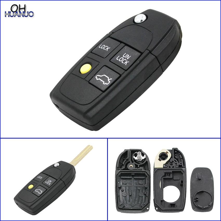 modified flip folding remote key case shell for volvo xc70 xc90 s40