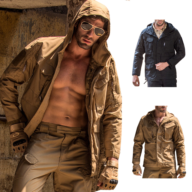 Casual Military Tactical Jacket  Lightweight Vintage M65 Coat  Spring Autumn Windbreaker Army Field Male Clothes Sports Outwear