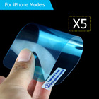 5Pcs/lot LCD Film Screen Protector for iPhone 7 7Plus Nano Explosion Film for iPhone 5 5s SE 6 6S 6plus 6s 8 plus X Film Guad