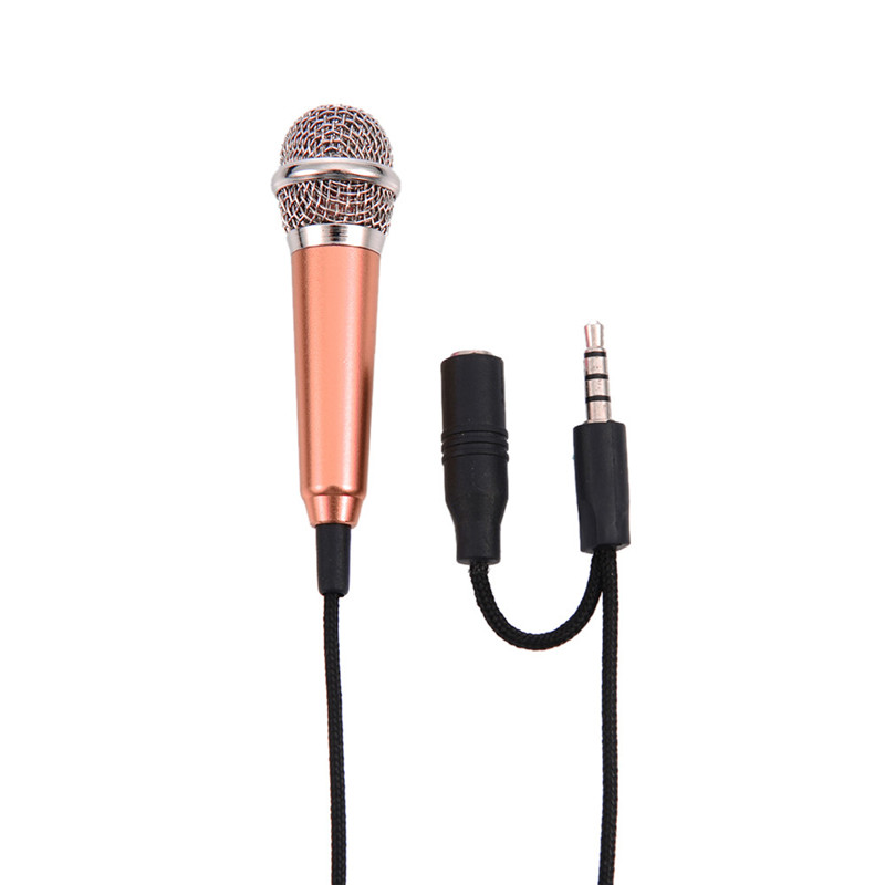 iphone karaoke microphone 1pc mini mic portable microphone stereo karaoke sound 11970