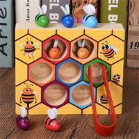 2018 Hot Selling Beehive Board Game Montessori Wooden Toys Children Early Education Enlightenment Teaching Aid Toys For Kids