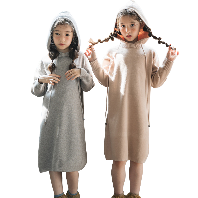 long sweater dress age for 4 - 14 yrs big girls casual school style hooded dress winter autumn thick warm teenage girls dresses sweater dress new autumn winter women warm thick turtleneck sexy knitted dress long sleeve casual bodycon dresses vestidos ab410