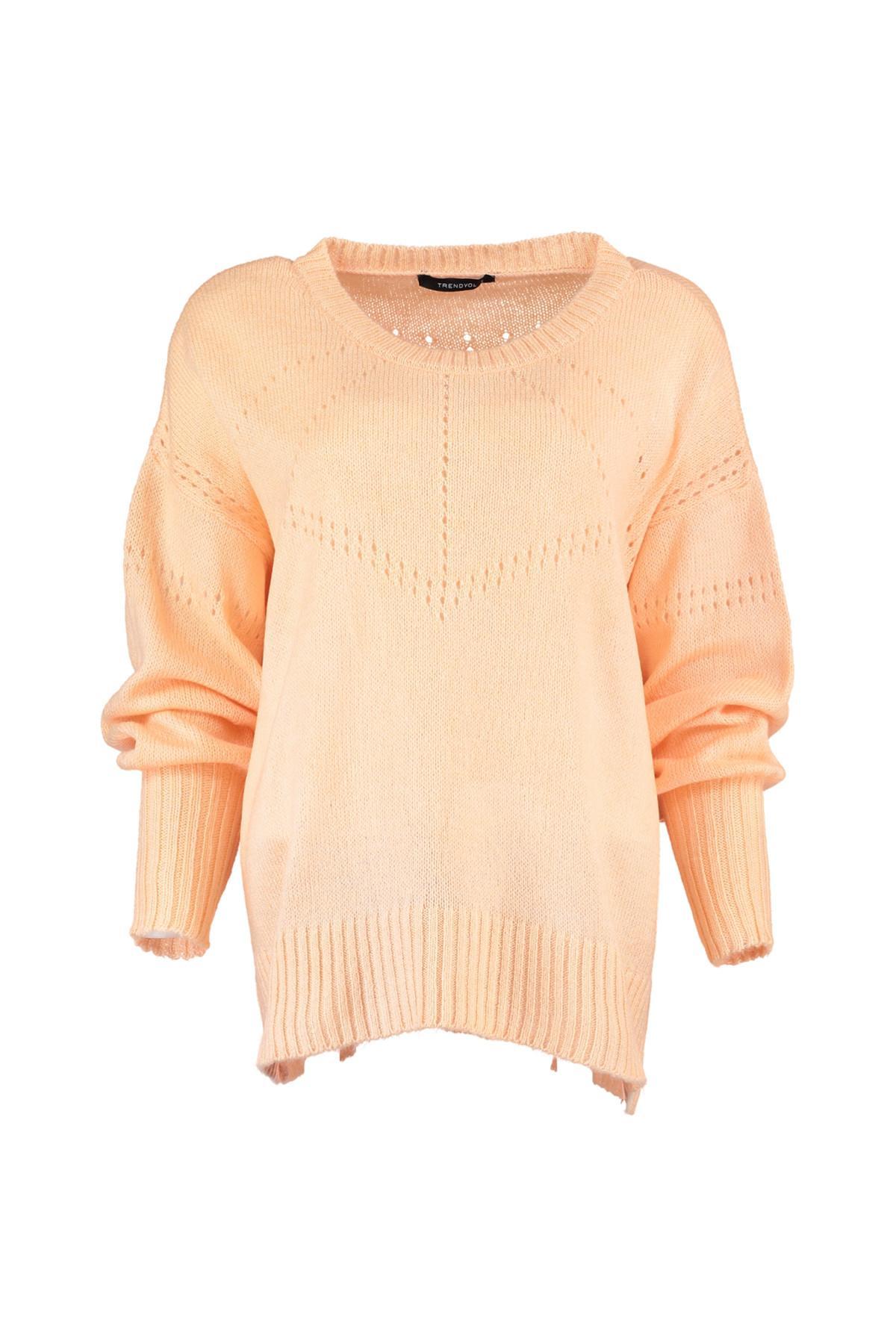Trendyol WOMEN-Powder Mesh Detayl? Knitwear Sweater TWOAW20ZA0006