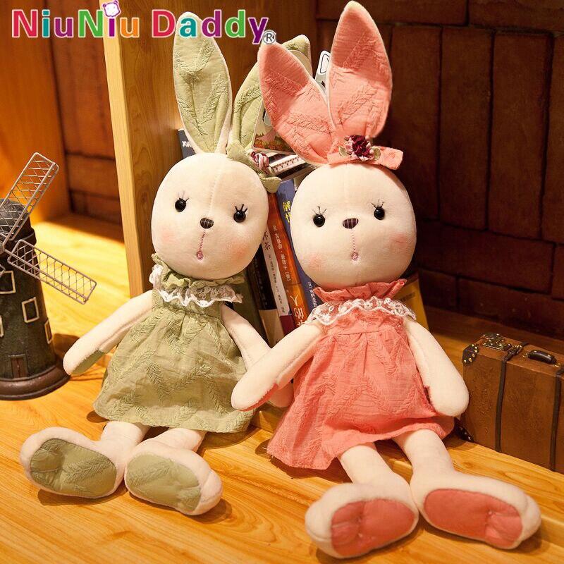 Niuniu Papa Nette Große Lange Ohren Kaninchen Plüsch Tiere Spielzeug Gefüllte Häschen Weichen Spielzeug Baby Kinder Schlaf Spielzeug Kind geburtstag Geschenk