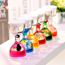 Multi colored Oiling Cup Liquid Timer Yoga Slim Hourglass Crystal Liquid Hourglass Ornament font b Decoration