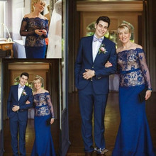 Royal Blue Plus Lace Mother Weddings Guest Of The Bride Dresses robe de soiree vestido madrinha Formal evening gown