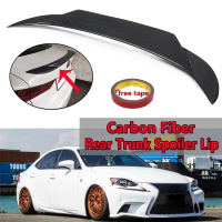 High Quality Real Carbon Fiber Rear Trunk Spoiler Lip For Lexus 2014 17 IS250/IS350/IS300/IS200t Rear Wing Spoiler Rear Trunk