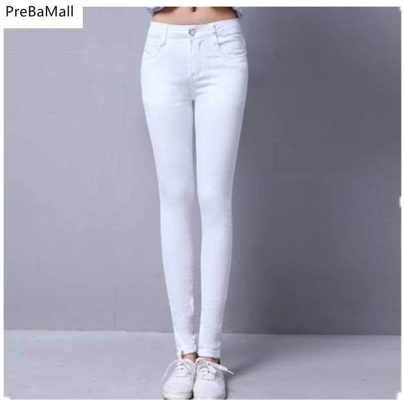 Woman Jeans Middle Waist Jeans Woman Elastic Stretch Jeans Female Washed Denim Skinny Pencil Pants Maternity Clothing C304