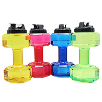 2 2 L Portable Sports Cup Large Capacity Fitness Kettle Dumbbell Large Kettle Glass Plastic Creative