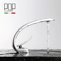 Free Shipping Chrome Finish Basin Mixer Tap With Hot And Cold Water
