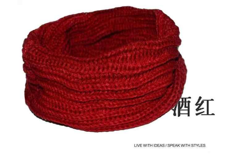 Kleine Garen Breien Ring Sjaal Man Vrouw Circulaire Sjaals Korte Vrouwelijke Wraps Mannen Vrouwen Capes Gebreide Effen Sjaals 3 Kleur keuze