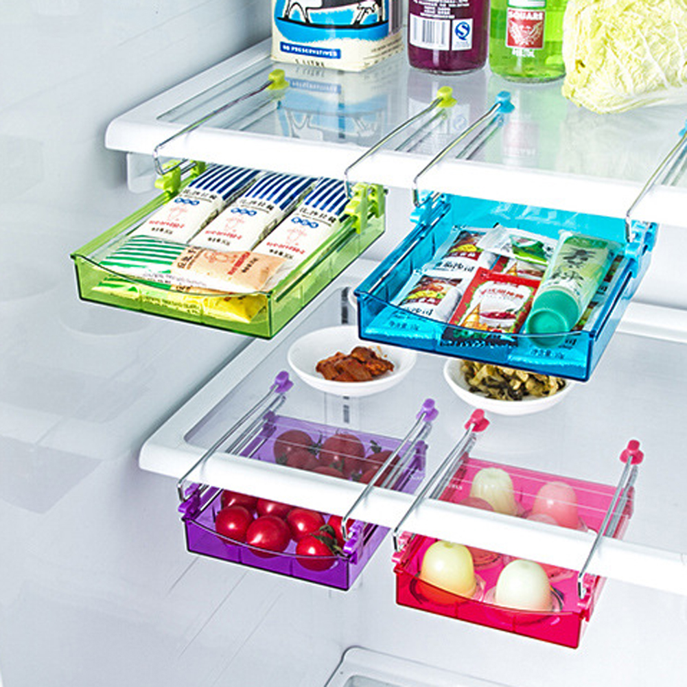 Large refrigerator separator layer classification storage rack ...