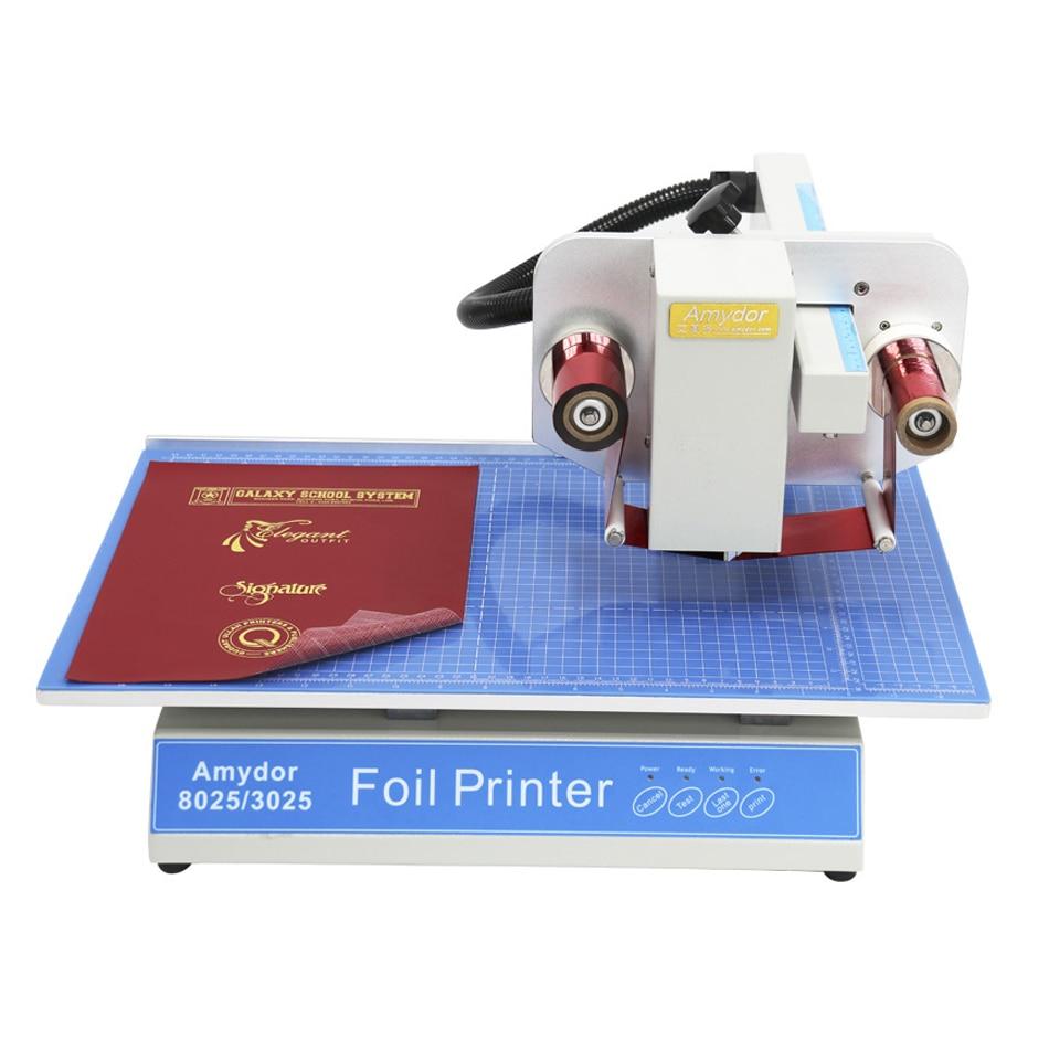 Cyfrowa płaska drukarka do folii Automatyczna maszyna do brązowania Elektryczny stół GORĄCA Maszyna do tłoczenia folii Złocenie Logo Drukowanie 8025