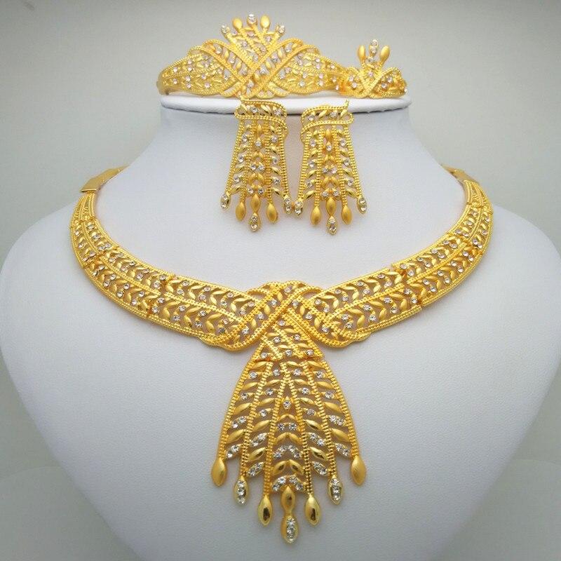 Jewelry-Sets Beads Kingdom-Ma Bridal-Nigerian Zinc-Alloy Gold-Color Wedding-African Luxury