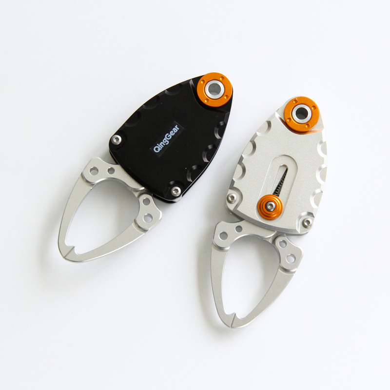 6PCS Compact Fish Lip Grip Gripper Grabber Grips Pocket alluminio - Utensili manuali - Fotografia 2