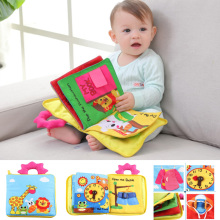 12 страниц Развивающие игрушки для малышей Горячие младенческие Дети Раннее развитие тканевые книги мультфильм животное обучение разворачивание деятельности книги