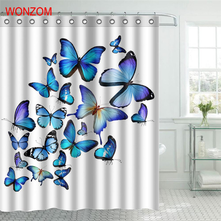 WONZOM Bad Cat Polyester Fabric Deer Shower Curtain Monkey Bathroom Decor  Waterproof Animal Cortina De Bano With 12 Hooks Gift In Shower Curtains  From Home ...