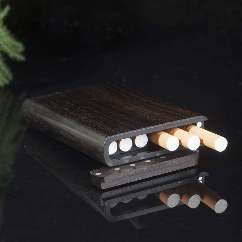 It Can Accommodate Six Fine Cigarette Boxes Portable Sandalwood Creative Personality Cigarettes Gifts For Men And Women.-in Cigarette Accessories from Home & Garden    3