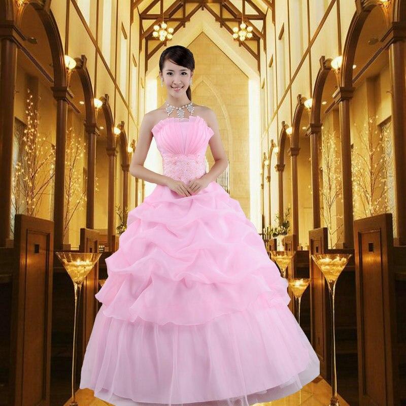 Dream Days For The New Pink Bra Long Bride Wedding Dress Korean