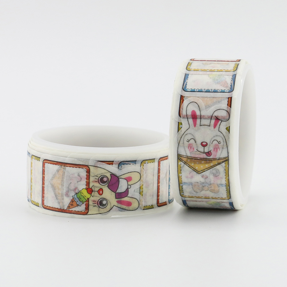 60pcs/roll cute rabbit tape Kawaii Washi Tape Garden 1.5cm*7m DIY Adhesive for Scrapbooking 1 roll