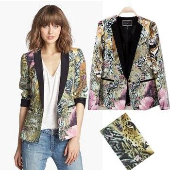 Online Shop Style Blazer Leopard Designer Women Blazers Cool Tiger ...