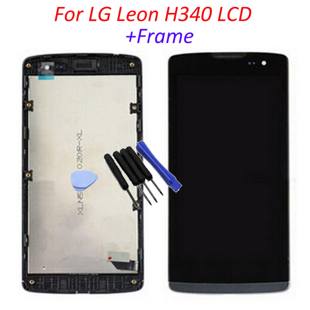 100 Warranty New LCD screen Display Touch Digitizer With frame Assembly Replacement For LG Leon H340