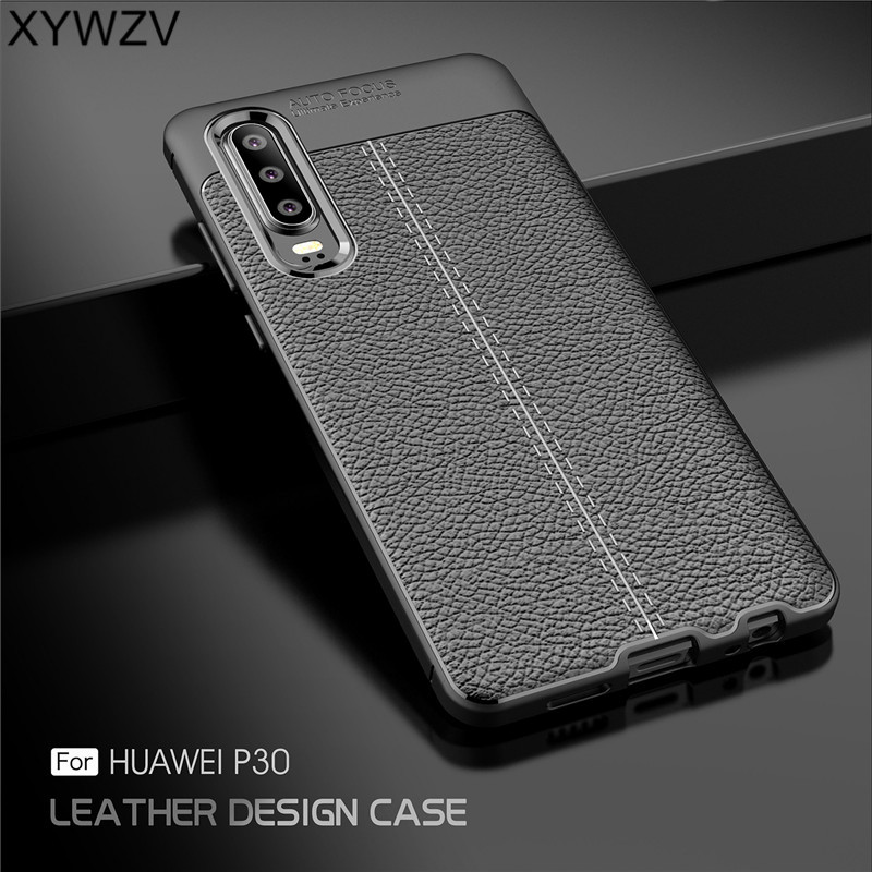 XYWZV For Cover Huawei P30 Case Luxury Armor Rubber Phone Silicone Back Shell Fundas ^