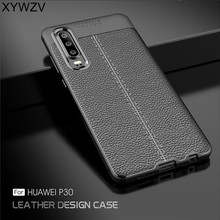 hot deal buy xywzv for cover huawei p30 case luxury armor rubber phone case for huawei p30 silicone back cover for huawei p30 shell fundas ^