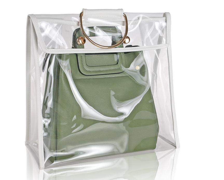 Transparent Bags PVC Dust-proof Bag Wardrobe Handbag Finishing Moisture-proof Bag Transparent Men Women Bag Storage Travel Beach