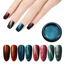 Mshing99 5D Cat Eye Nail Gel 5ml Magnetic Soak Off UV Gel Lacquers Starry Sky Jade Effect Varnish(China)