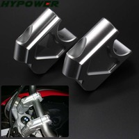 For BMW F800GS / F800R/ F800GT Silver Motorcycle Accessories Handle Bar Clamp Raised Extend Handlebar Mount Riser