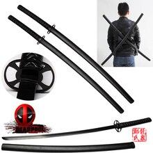 Free Shipping Martial Arts Supply Leonardo Dual Ninja Swords with Back Carrying Scabbard Movie Replica Real Katana