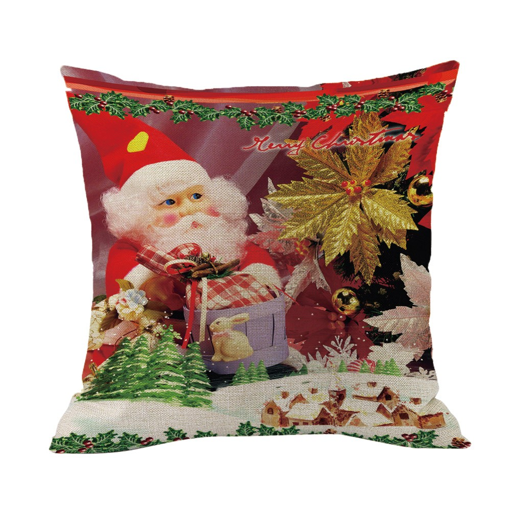 aliexpresscom buy merry christmas throw pillow case linen decorative pillows cover for sofa seat cushion cover 45x45cm home decor from reliable cushion