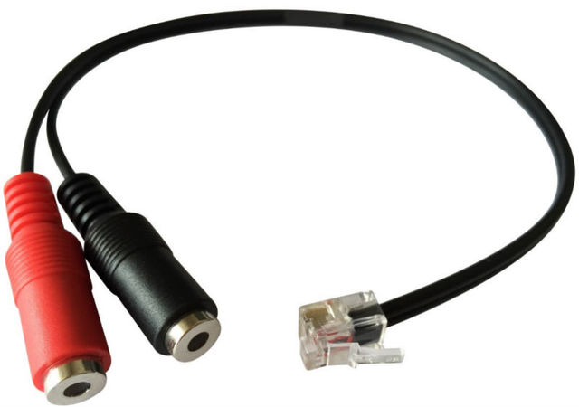 US $7 46 29% OFF Headset buddy adapter Convet 2X3 5MM headset to General  RJ9 Headset Adapter Handset Jack PC headset to RJ9/RJ10/RJ22-in Earphone