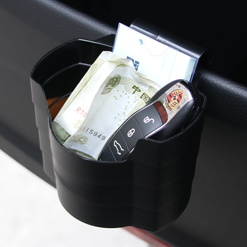 все цены на Car outlet drink cup holder Door set box black trash can