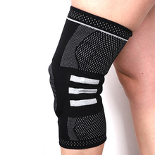 Prevent Arthritis Elastic Knee Pad Support Bracket Basketball Safety Nylon Silicon Kneepad Relieve Stress Sports Fitness