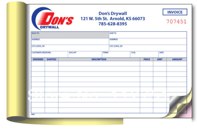 NCR sample receipt book customizedin Other Office School – Sample Receipt Book