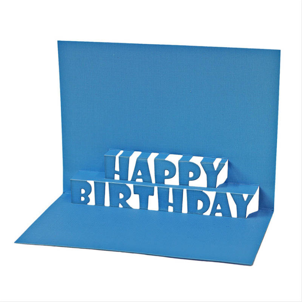 Happy Birthday Alphabet Cutting Dies Stencils For Card Making Decorative Embossing Suit Paper Cards Stamp DIY Dies Scrapbooking