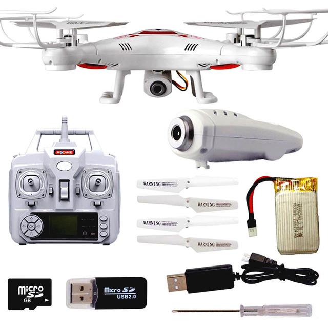 Nuevo K300C Drone 2 MP HD Cámara Quadcopter VS X5C Drone Cámara 2.4 Ghz Drone Quadcopter RC Helicóptero Drone de Cámara del modo sin cabeza de vuelo