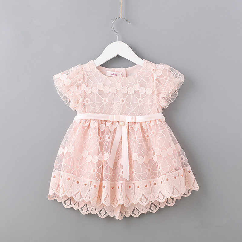 db7fa8effde92 Detail Feedback Questions about Newborn Flowers Embroidery Puff Sleeve Girls  Dress Christening Birthday Party Baby Clothing Toddler Girl Clothes pink  white ...