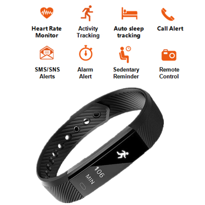 Dehwsg Heart Rate Monitor Smart Bracelet Id115 Hr Activity Fitness Tracker Alarm Vibration Wristband For Ios Android Pk Xiaomi In Wristbands From
