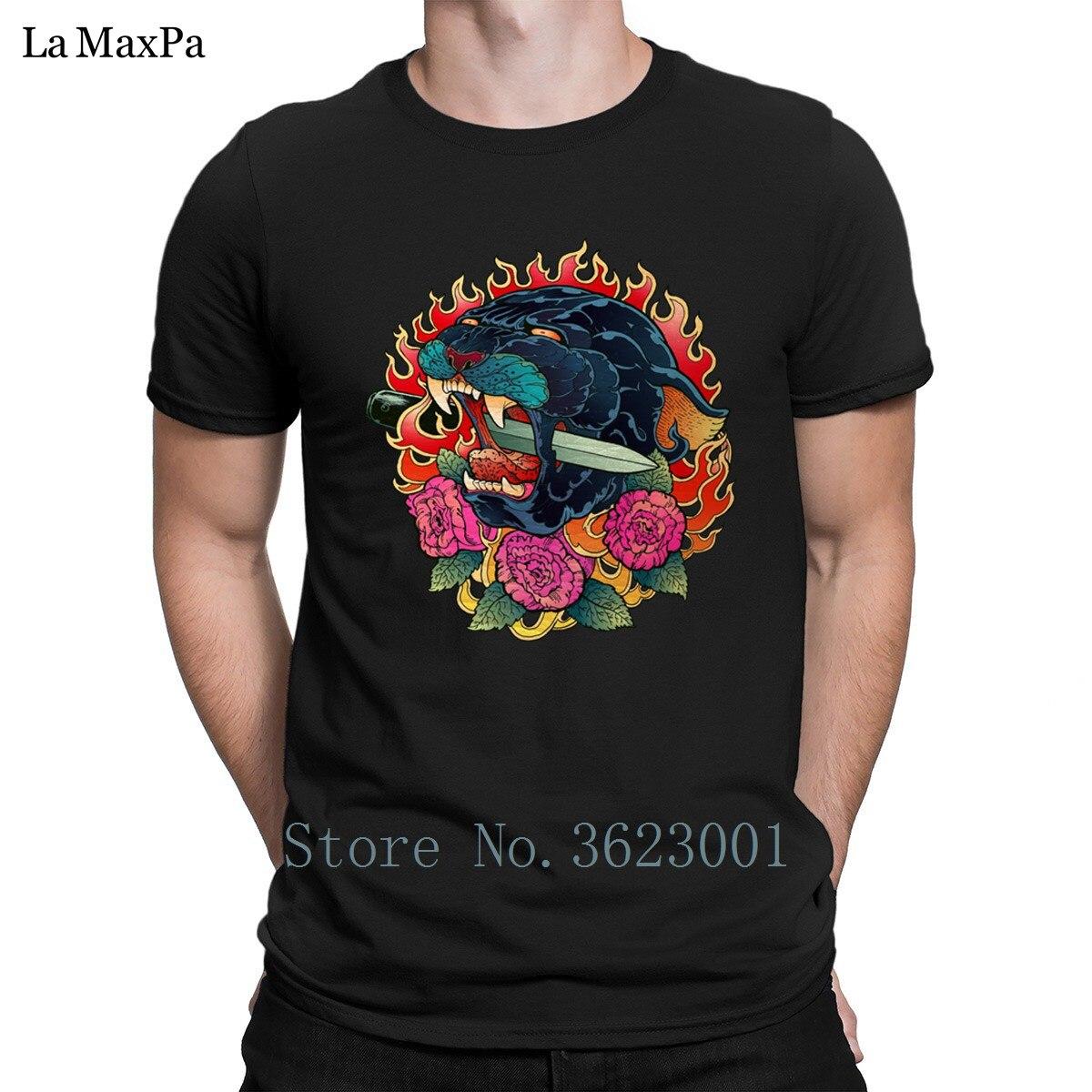 Design Funny Casual Tshirt For Men Burning Roses T Shirt Mens Clothes Tee Shirt Hilarious Men T-Shirt O-Neck HipHop Top