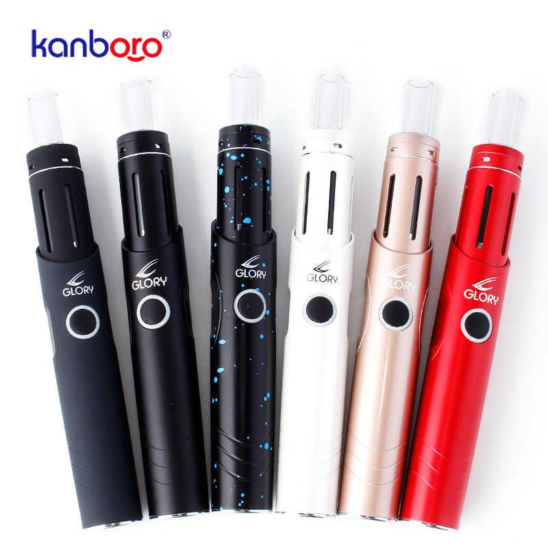 Kanboro Portable Glory Pocket Wax Vaporizer Vape kit Quartz Dual Coil  Airflow Control Pen Vapor 3 Levels of Wattage Setting