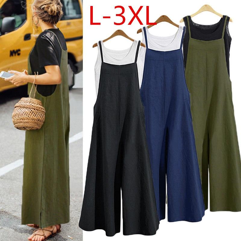 2018 Harem   Pant   Hemp Bloomer Plus Size L-3XL Loose Women Trouser cotton Linen   Pants   Oversize Sashes   Wide     Leg     Pant