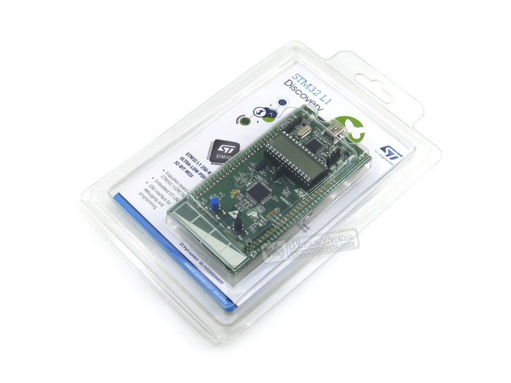 100% Original STM32 Development Board STm32 L1 STM32 Discovery Kit STM32L152C-DISCO Base on STM32L152RBT6 Free Shiping stm32l100c disco 32l100cdiscovery stm32l100rct6 stm32 32 bit cortex m3 discovery kit development board with on board st link v2