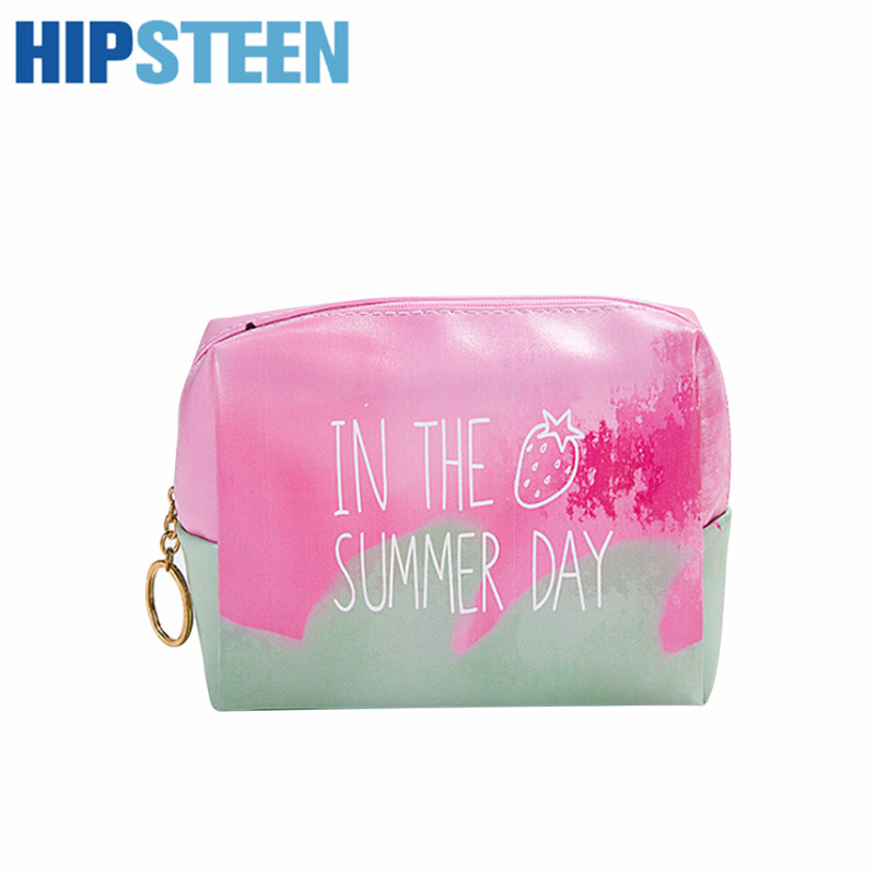 HIPSTEEN Professional Cosmetic Make Up Bag Large Capacity Portable Leather Women Travel Makeup Cosmetic Toiletry Bag Bags