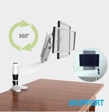 """10-27 """"Display Rotação de 360 Graus Completo de Desktop Titular Monitor de TV LCD de Montagem Suporte de Fixação Do Braço 20 ~ 80 cm Altura MD5211"""