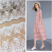High quality tulle Polyester Organza embroidered lace fabric diy craft fashion skirt dress clothing accessories MT70