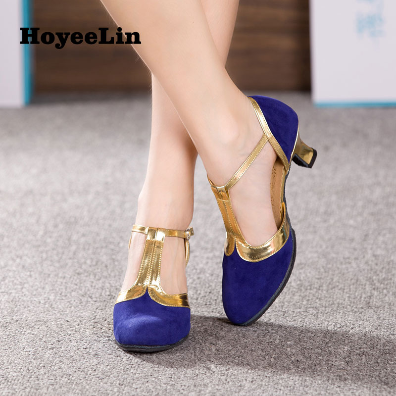 Image 5 - New Women Ladies Ballroom Party Modern Dance Shoes Closed Toe Indoor Suede Sole Waltz Tango Salsa Dancing Heels 3.5/5.5/7cm-in Dance shoes from Sports & Entertainment